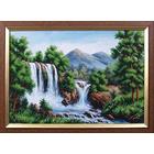 Набор для вышивания бисером МК Б-125 «Водопад в горах» 40*27,5 см