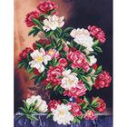 Набор для вышивания бисером МК Б-266 «Живописные пионы» 28*36 см