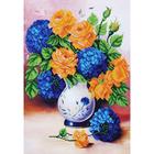 Набор для вышивания бисером МК Б-321 «Цветочная феерия» 26,5*38,5 см