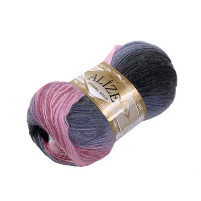 Пряжа Ангора голд батик (Angora Gold Batik), 100 г/ 550 м, 1602 фиол.+роз.+бел. в интернет-магазине Швейпрофи.рф