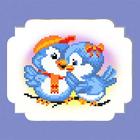 Набор для вышивания бисером МП 0061/БП «Птички» 24*26 см