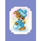 Набор для вышивания бисером МП 0063/БП «Собачка» 24*26 см