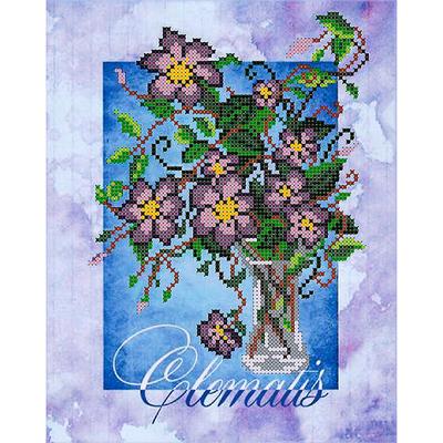 Набор для вышивания бисером Наследие НДА4-007 «Клематис» 20*25 см в интернет-магазине Швейпрофи.рф