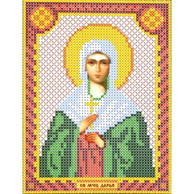 Набор для вышивания бисером Наследие НДА5-068 «Св. Дарья» 12*16 см в интернет-магазине Швейпрофи.рф