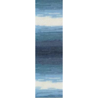 Пряжа Ангора голд батик (Angora Gold Batik), 100 г/ 550 м, 1899 синий+голуб.+белый в интернет-магазине Швейпрофи.рф