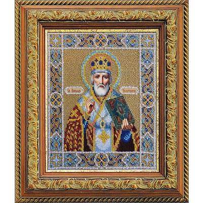 Набор для вышивания бисером Паутинка Б-1005 «Св. Николай Чудотворец» 20*24 см в интернет-магазине Швейпрофи.рф