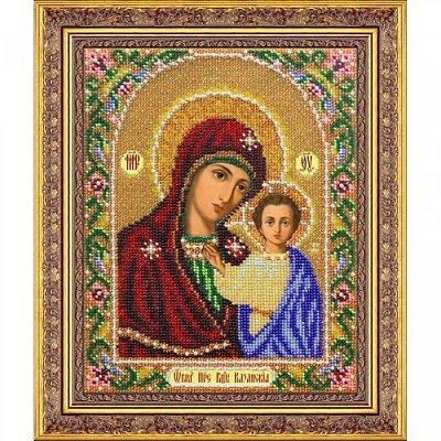 Набор для вышивания бисером Паутинка Б-1012 «Пр. Богородица Казанская» 20*25 см в интернет-магазине Швейпрофи.рф