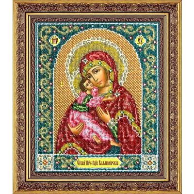 Набор для вышивания бисером Паутинка Б-1014 «Пр. Богородица Владимирская» 19,5*23 см в интернет-магазине Швейпрофи.рф