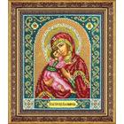 Набор для вышивания бисером Паутинка Б-1014 «Пр. Богородица Владимирская» 19,5*23 см