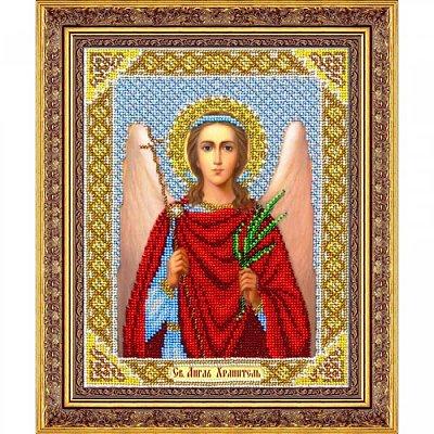 Набор для вышивания бисером Паутинка Б-1015 «Ангел Хранитель» 20*25 см в интернет-магазине Швейпрофи.рф