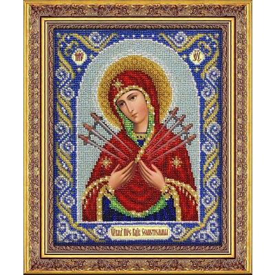 Набор для вышивания бисером Паутинка Б-1026 «Пр. Богородица Семистрельная» 20*25 см в интернет-магазине Швейпрофи.рф