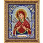 Набор для вышивания бисером Паутинка Б-1026 «Пр. Богородица Семистрельная» 20*25 см