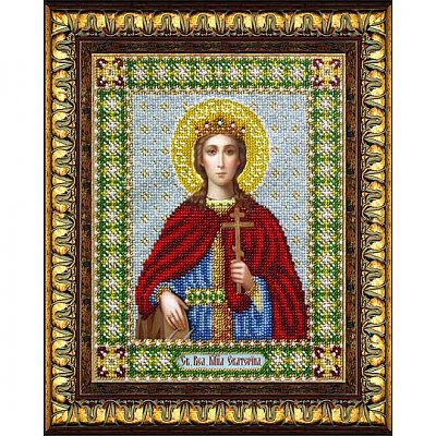 Набор для вышивания бисером Паутинка Б-1033 «Св. Вмч. Екатерина» 20*24 см в интернет-магазине Швейпрофи.рф