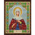 Набор для вышивания бисером Паутинка Б-1035 «Св. Мученица Фотина (Светлана)» 20*25 см