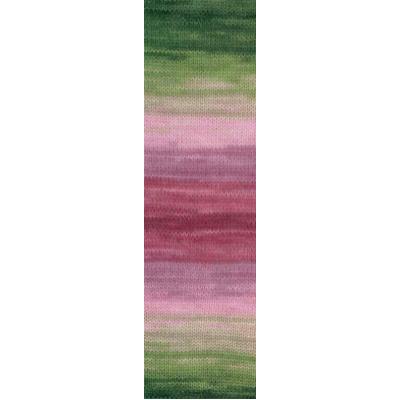 Пряжа Ангора голд батик (Angora Gold Batik), 100 г/ 550 м, 2527 зел.+розов.+бордо в интернет-магазине Швейпрофи.рф