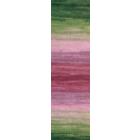 Пряжа Ангора голд батик (Angora Gold Batik), 100 г/ 550 м, 2527 зел.+розов.+бордо