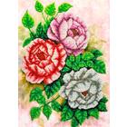 Набор для вышивания бисером Паутинка Б-1209 «Чайные розы» 28*38 см