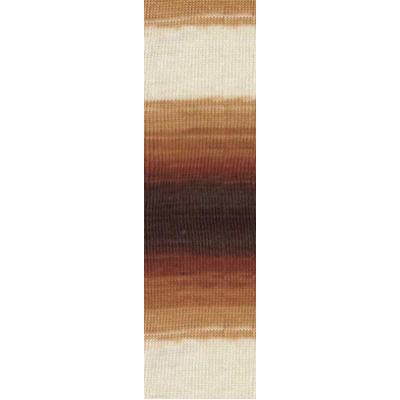 Пряжа Ангора голд батик (Angora Gold Batik), 100 г/ 550 м, 2626 коричн.+бел. в интернет-магазине Швейпрофи.рф