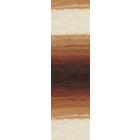 Пряжа Ангора голд батик (Angora Gold Batik), 100 г/ 550 м, 2626 коричн.+бел.
