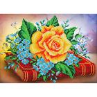 Набор для вышивания бисером Паутинка Б-1251 «Роза и незабудки» 28*20 см