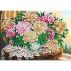Набор для вышивания бисером Паутинка Б-1269 «Пионы в закате» 40*28 см