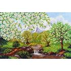 Набор для вышивания бисером Паутинка Б-1401 «Яблоневая весна» 20*25 см