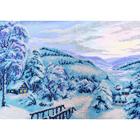Набор для вышивания бисером Паутинка Б-1402 «Зимняя сказка» 38*28 см