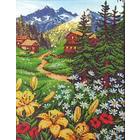 Набор для вышивания бисером Паутинка Б-1406 «Альпийское утро» 29*39 см