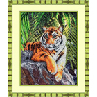 Набор для вышивания бисером Паутинка Б-1414 «Тигр» 33,5*46,5 см