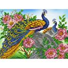 Набор для вышивания бисером Паутинка Б-1450 «Павлины» 28*38 см