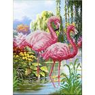 Набор для вышивания бисером Паутинка Б-1451 «Фламинго» 28*38 см
