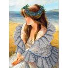 Набор для вышивания бисером Паутинка Б-1483 «В ажурной шали» 37*38 см