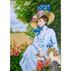 Набор для вышивания Гелиос АА-001 «Дама с собачкой» 30*40 см