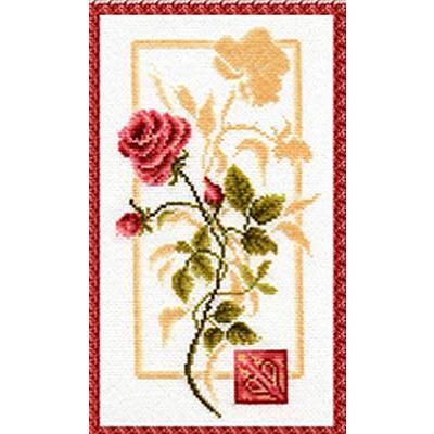 Набор для вышивания Золотое руно БР-005 «Отражение розы» (снят) 16*29,8 см в интернет-магазине Швейпрофи.рф