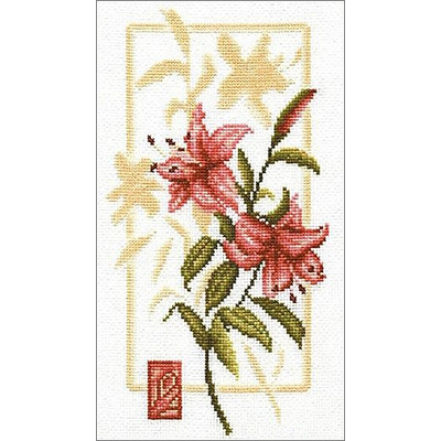 Набор для вышивания Золотое руно БР-006 «Отражение лилии» 16*29,8 см в интернет-магазине Швейпрофи.рф