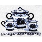 Набор для вышивания Золотое руно ВГ-003 «Чайный сервиз» 13*18 см