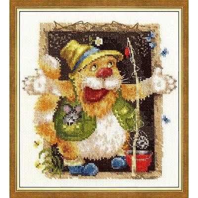 Набор для вышивания Золотое руно ВК-020 «Байки рыбака» 17,5*19,5 см в интернет-магазине Швейпрофи.рф
