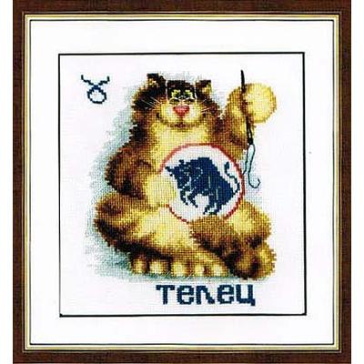 Набор для вышивания Золотое руно ВЛ-002 «Знаки зодиака. Телец» 13*15 см в интернет-магазине Швейпрофи.рф