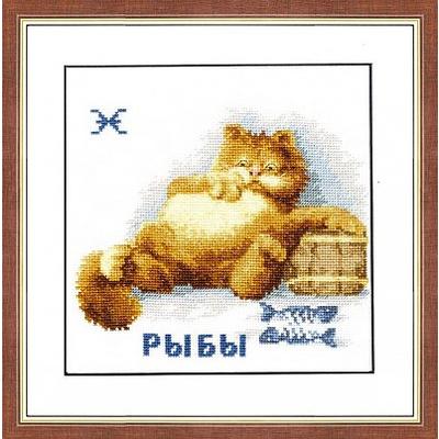 Набор для вышивания Золотое руно ВЛ-012 «Знаки зодиака. Рыбы» 14*16 см в интернет-магазине Швейпрофи.рф