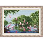 Набор для вышивания Золотое руно ЛП-040 «Розовые пеликаны» 46,1*30,7 см