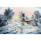 Набор для вышивания Золотое руно ЛП-046 «Зимнее утро» 25,8*38,1 см