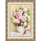 Набор для вышивания Золотое руно ЛЦ-050 «Розовые пионы» 25,5*39 см