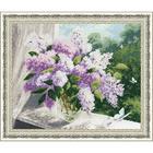 Набор для вышивания Золотое руно ЛЦ-054 «Сиреневая весна» 37,9*30,5 см