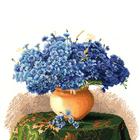 Набор для вышивания Золотое руно ЛЦ-056 «Натюрморт с васильками» 28,8*34,8 см