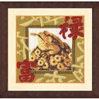 Набор для вышивания Золотое руно МГ-020 «Золотая жаба» 22,1*22,1 см