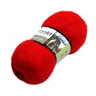 Пряжа Ангора де люкс (Angora De Luxe), 100 г/ 520 м, 00156 красный
