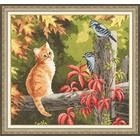 Набор для вышивания Золотое руно НЛ-028 «Рыжий котенок» 31,8*29,8 см