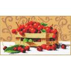 Набор для вышивания Золотое руно РТ-024 «Спелые вишни» 30*16,8 см