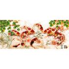 Набор для вышивания Золотое руно РТ-028 «Японские карпы» 24,6*56,1 см