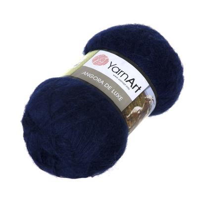 Пряжа Ангора де люкс (Angora De Luxe), 100 г/ 520 м, 00583 т.-синий в интернет-магазине Швейпрофи.рф